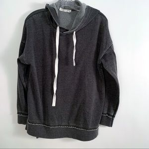 HIPPIE ROSE HOODIE PULL ON SWEATSHIRT SMALL - 0732